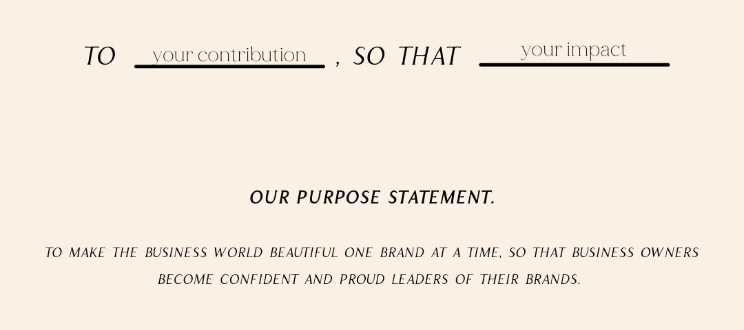 Brand Purpose Template